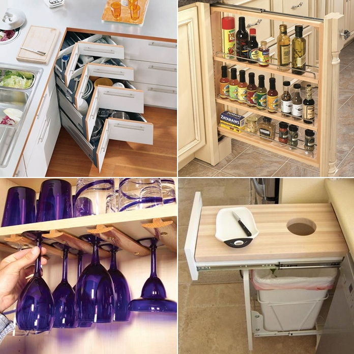 Storage life hacks best storage design 2017 for 9 kitchen life hacks